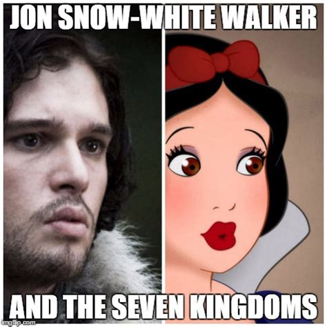 White Walkers Meme - image tagged in jon snow white imgflip