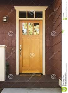 Front Door Light Timer Light Wood Front Door On A Home Royalty Free Stock Images Image 27023689