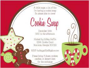 cookie invitation template 9 best images of printable cookie exchange invitations