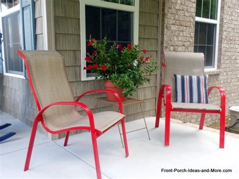 hometalk how to spray paint outdoor chairs