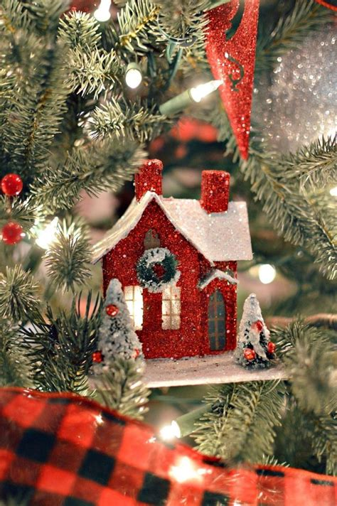 Homes Decorated For Christmas On The Inside 4717 best putz amp glitter houses images on pinterest putz