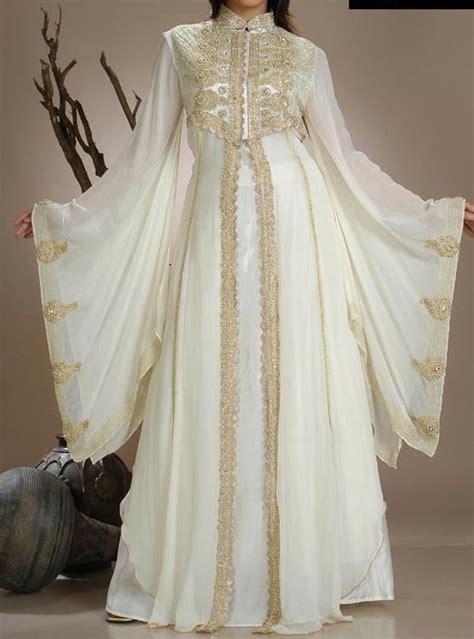 white gold abaya dubai wedding dress evening dresses