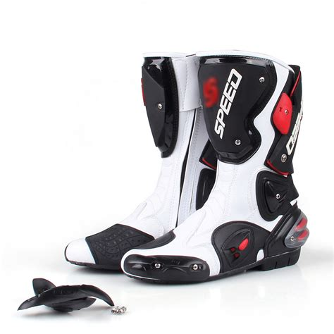 bike racing boots men motorcycle leather boots boot shoes waterproof