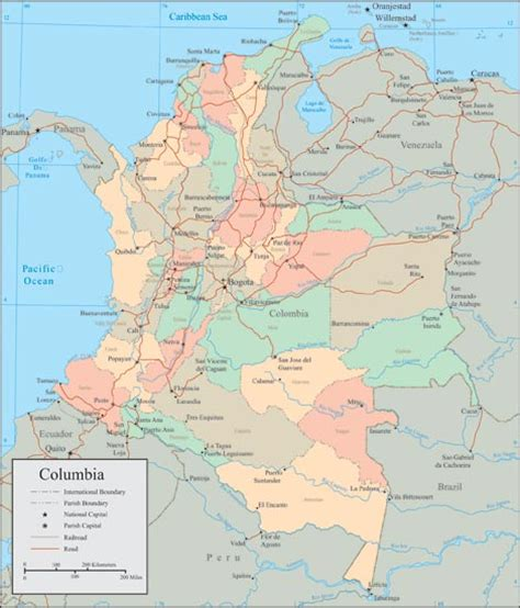 colombia vector map colombia vector maps