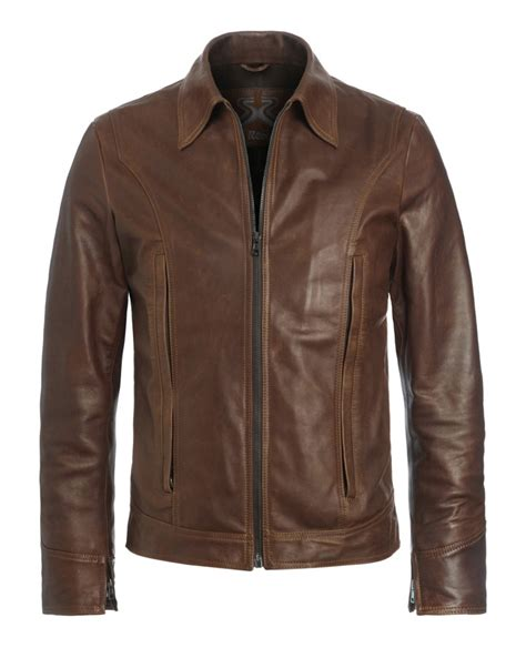 Jaket Wolverine Brown wolverine leather jacket soul revolver