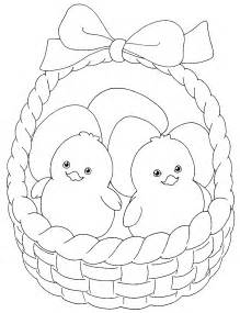 easter pictures to color and print easter colouring easter in a basket to colour
