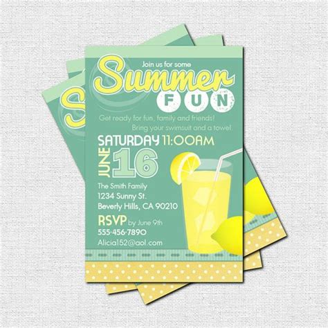 Backyard Invitation 17 Best Images About Summer Themes On