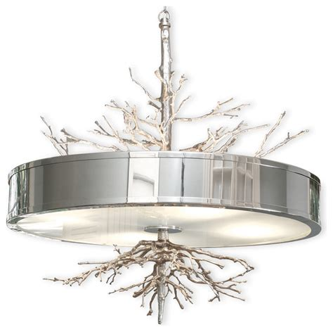 tree branch light fixture bijou tree branch hollywood regency silver nickel ceiling