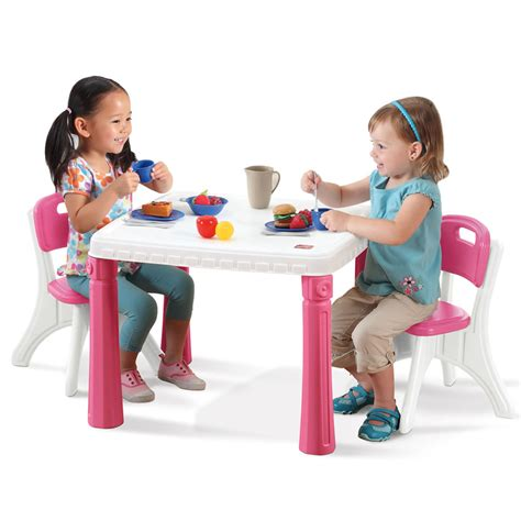 step 2 table chairs lifestyle kitchen table chairs set kids table chairs