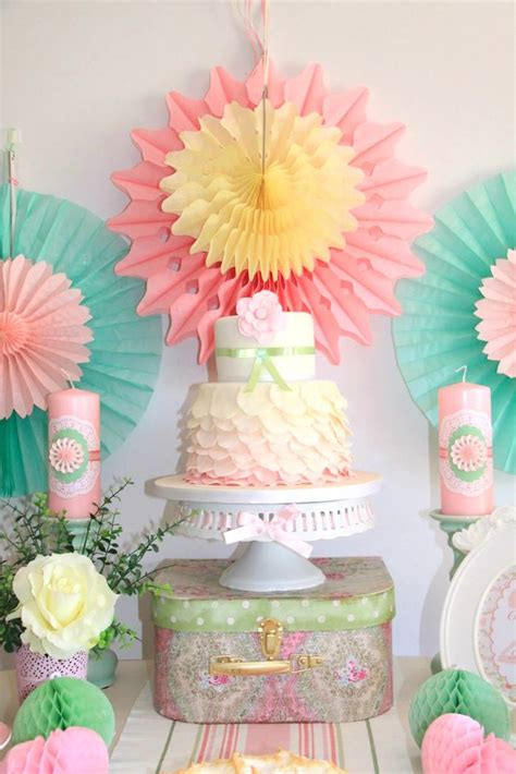 Pastel Decorations by Kara S Ideas Pastel Tea Decor Ideas