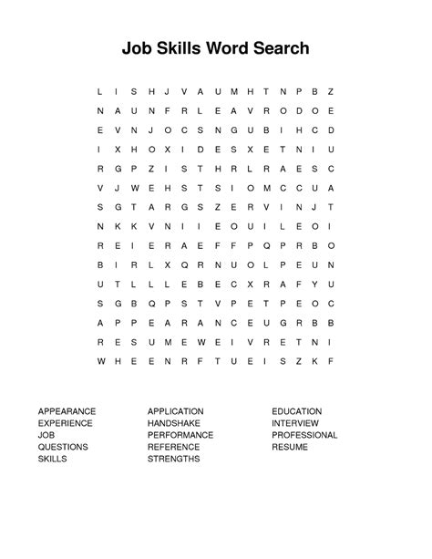 printable word search jobs 28 jobs wordsearch worksheet by ssrl10 jobs