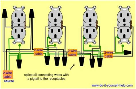 wiring diagram for a row of receptacles electrical