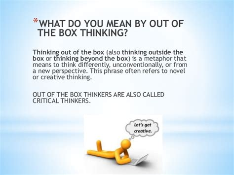 Out Of The by Think Out Of The Box