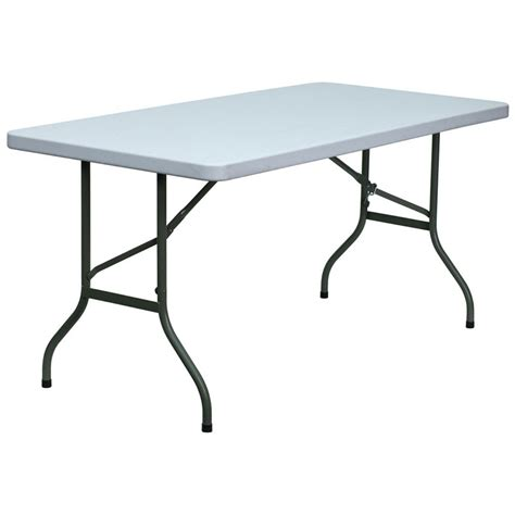 5 Foot Folding Table 5 Foot Molded Plastic Folding Table Banquet King