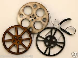 Home Theater Wall Decor Home Theater Wall Art Movie Reels Theatre Decor Retro Room