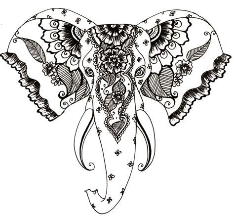 henna design png henna style elephant tattoo transparent png stickpng