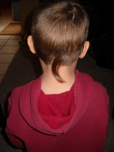 boys rat tail hairstyle happy huber house the haircut incident