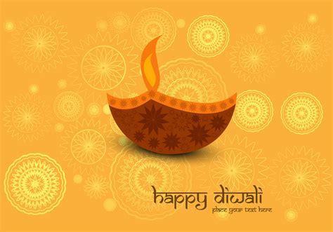 decorative diya decorative diya on diwali card download free vector art