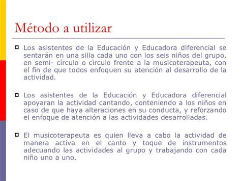 bonos fin se ao asistente de la educacion 2016 estrategia de intervenci 243 n musicoterap 233 utico educacional