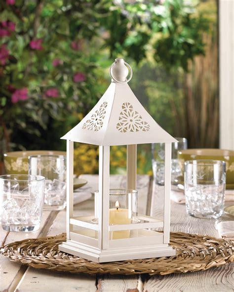 belfort white candle lantern wedding centerpiece best