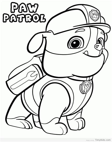 coloring page for paw patrol paw patrol coloring pages timykids