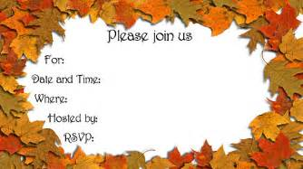 free printable fall invitation templates autumn leaves invitations free printable fill in