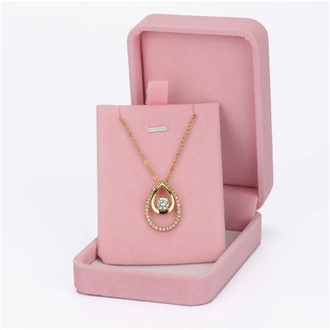 custom paper pink jewelry gift boxes high end custom