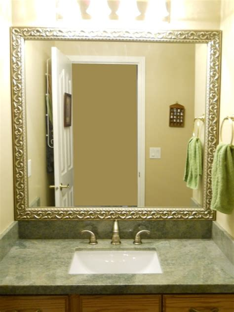 Framing Existing Bathroom Mirrors Bathroom Mirror Frame Traditional Bathroom Salt Lake City By Reflected Design Frames