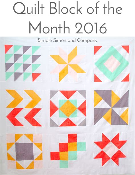 The Quilt Block by 2016 Quilt Block Of The Month Yardage Requirements