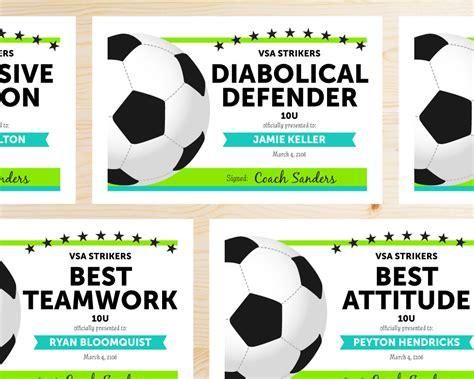 Soccer Award Categories Soccer Moms Team Player And Soccer Coaching Soccer Award Template