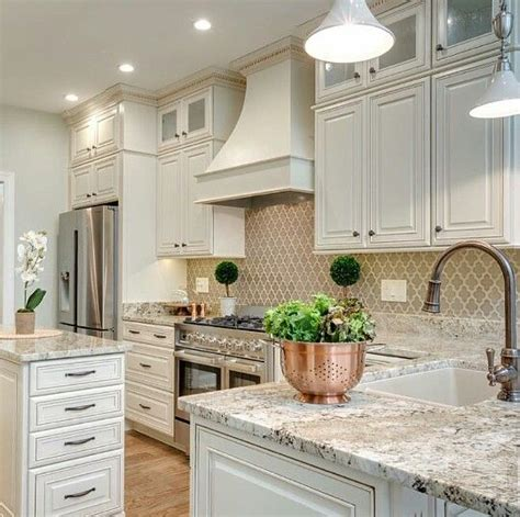 kitchen backsplash ideas with cream cabinets countertops cabinets and islands on pinterest