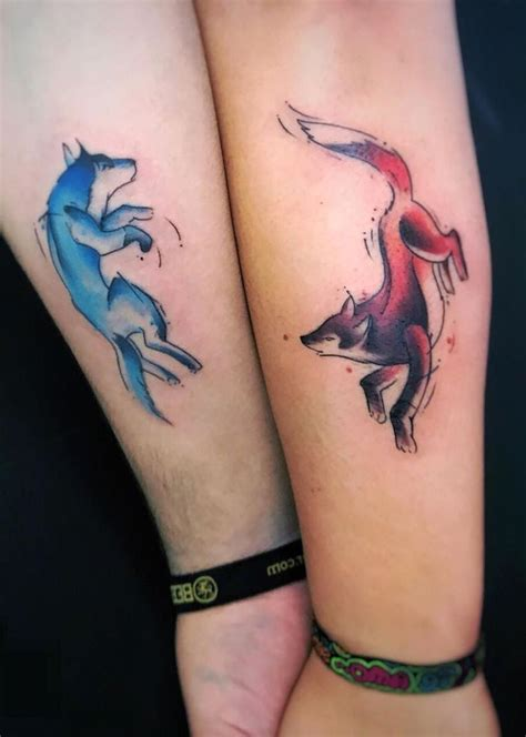 Partner Tattoos Vorlagen by Partner Motive Black Tribal Shape Lock And