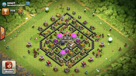 clash of clan 8 town hall war base top 10 clash of clans unbreakable town hall 8 defense war