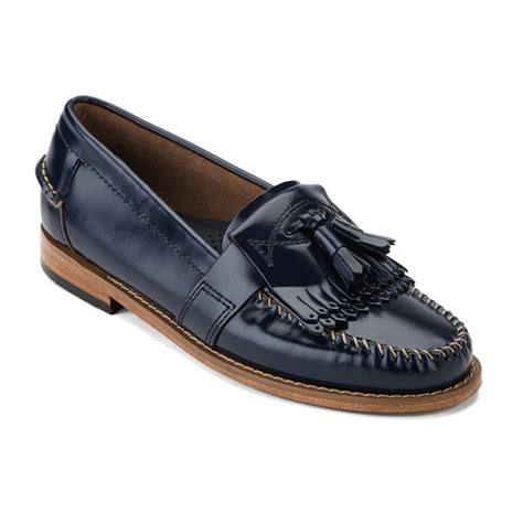 Sepatu Conexion Uk 37 bass weejuns s elspeth kiltie leather loafers navy