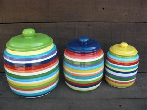 colorful kitchen canisters sets custom set kitchen canisters your colors and patterns