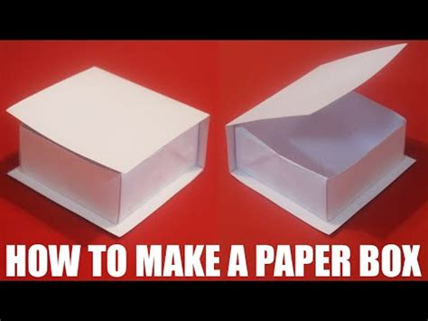 How To Make Your Own Paper Box - how to make your own paper box easy funnycat tv