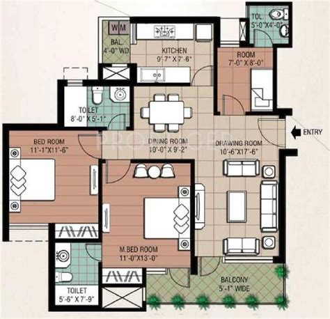 study room floor plan eldeco inspire in sector 119 noida price location map floor plan reviews proptiger