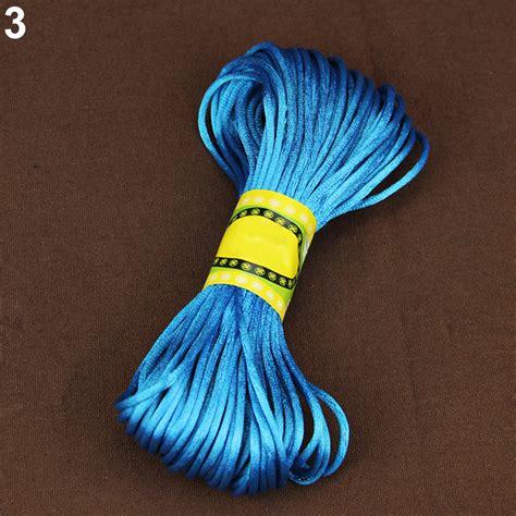 beading cord 20m 2mm rattail satin silk cord macrame beading