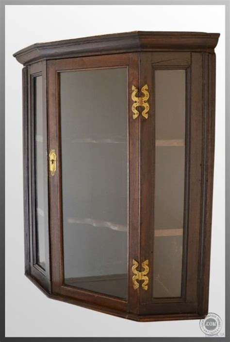 oak glazed corner cupboard cabinet antique c1800georgian