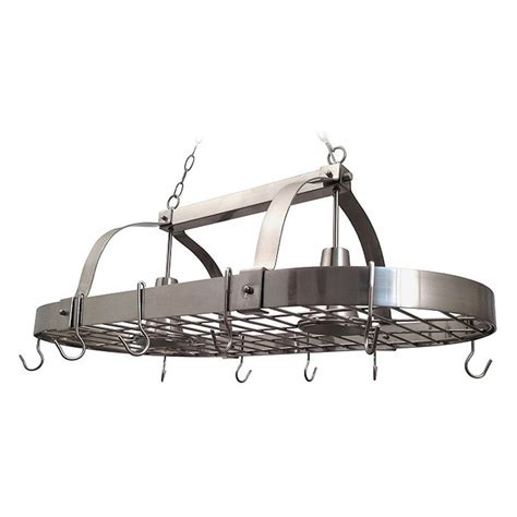 kitchen island pot rack lighting elegant designs pr1000 bsn home collection kitchen pot
