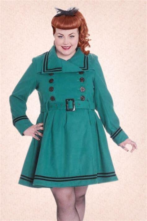 50s swing coat 50s millie swing winter coat in teal