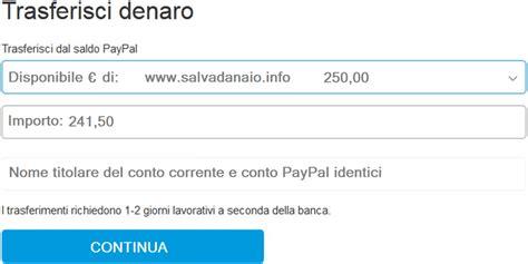 Paypal Banca by Come Inviare E Trasferire Denaro Dalla Carta Paypal In Banca