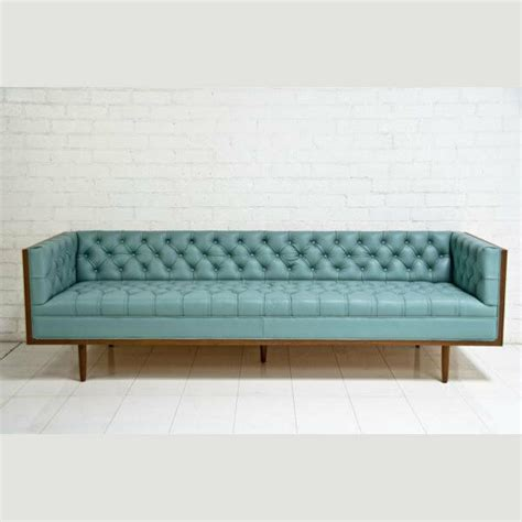 Chesterfield Sofa Ebay by Chesterfield Pale Blue Leather Sofa Ebay