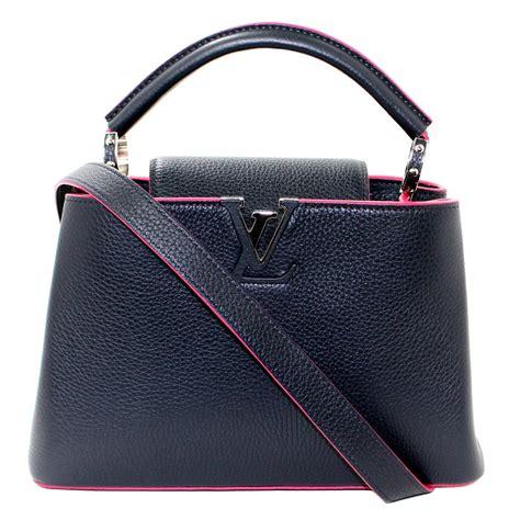 Tas Louis Vuitton Cappucine Bag Medium louis vuitton capucines bb bag navy leather with pink at 1stdibs