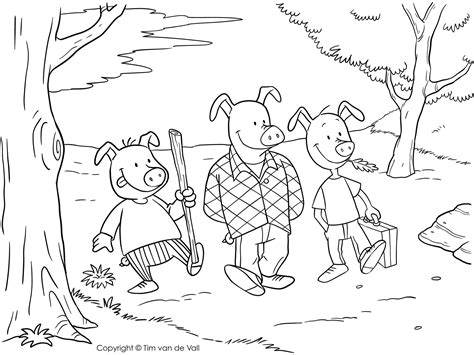 Three Little Pigs Coloring Pages The Three Little Pigs Story Three Pigs Coloring Pages