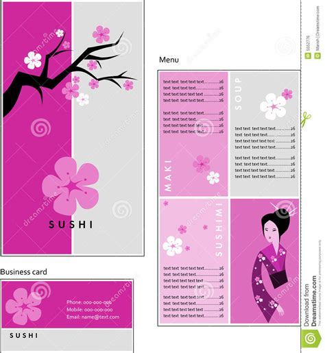 japanese business card template free template designs of menu and business card for cof royalty