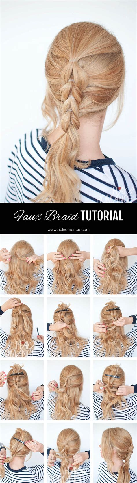 step by step written instructions for braids the no braid braid 5 pull through braid tutorials hair