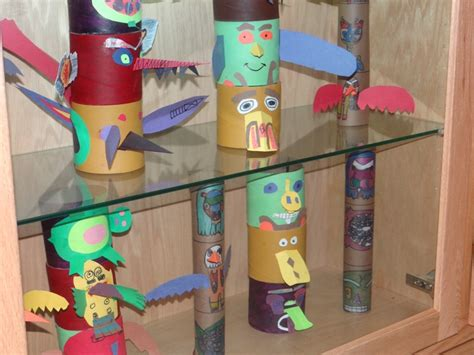 totem pole craft project 12 best totem poles images on totems totem