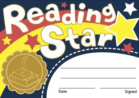 printable star reader certificates reading star certificates