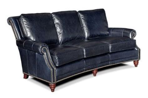 midnight blue leather 3 seater sofa
